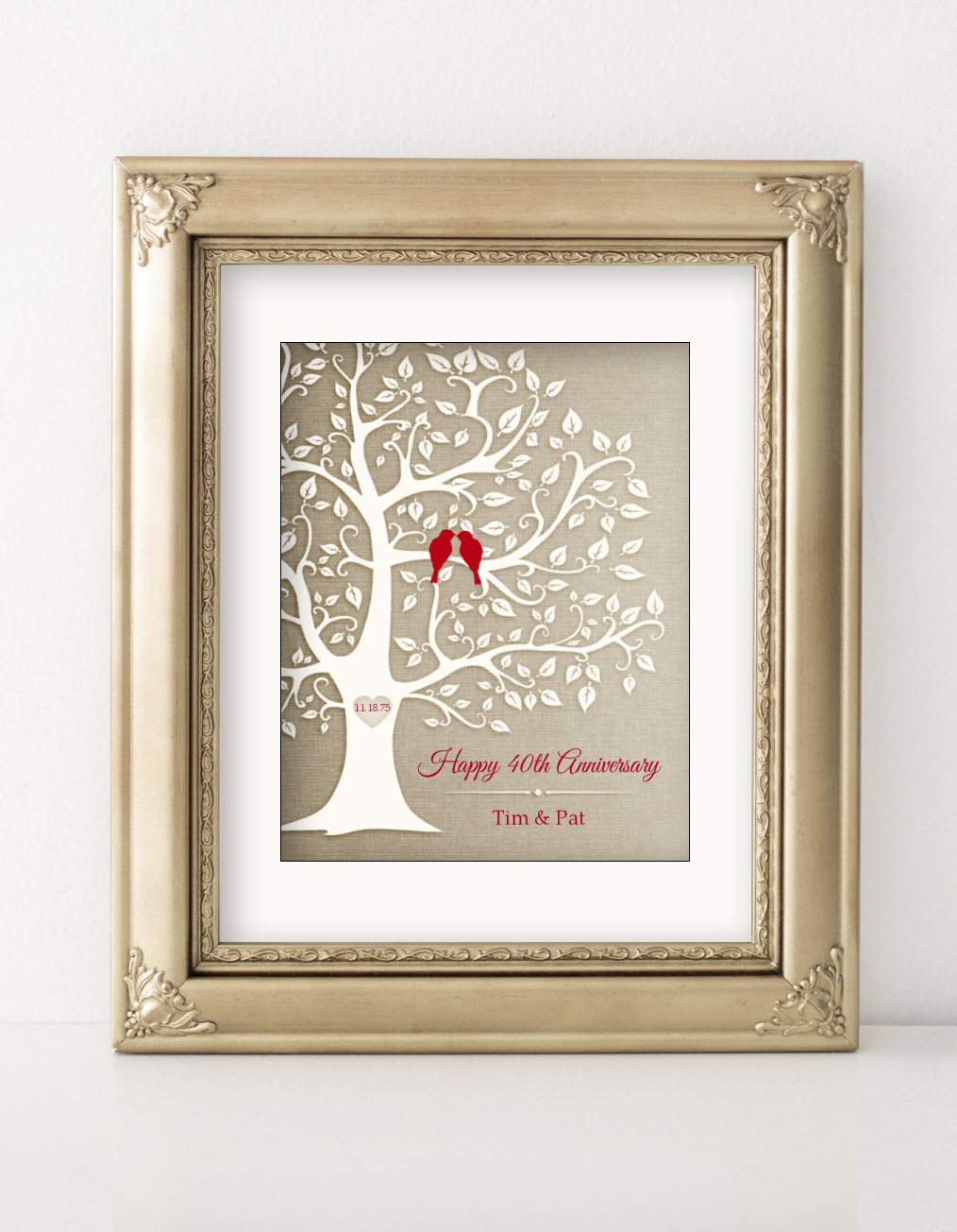 Best ideas about 40Th Year Anniversary Gift Ideas . Save or Pin 40th Anniversary Gift Golden Anniversary Print Gift Now.