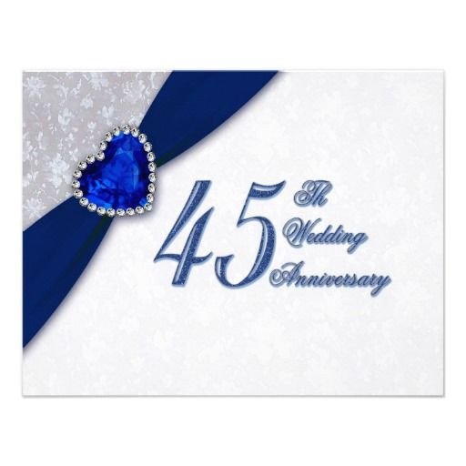 Best ideas about 45Th Wedding Anniversary Gift Ideas . Save or Pin Damask 45th Wedding Anniversary Invitation Now.