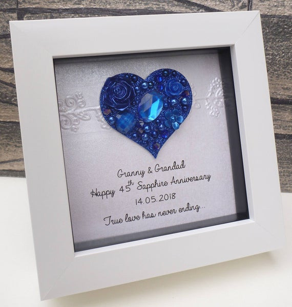 Best ideas about 45Th Wedding Anniversary Gift Ideas . Save or Pin 45th wedding anniversary t 45th anniversary t sapphire Now.