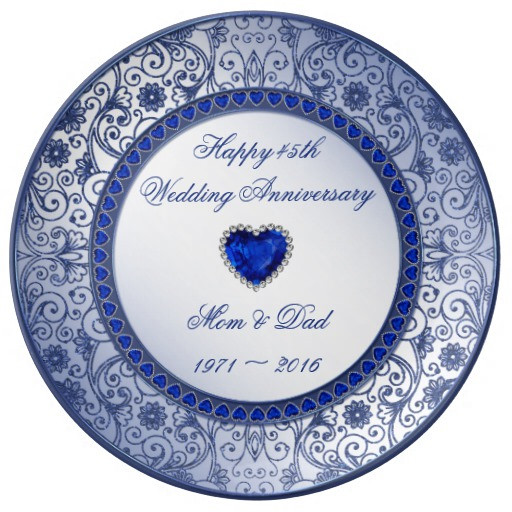 Best ideas about 45Th Wedding Anniversary Gift Ideas . Save or Pin Sapphire 45th Wedding Anniversary Porcelain Plate Now.