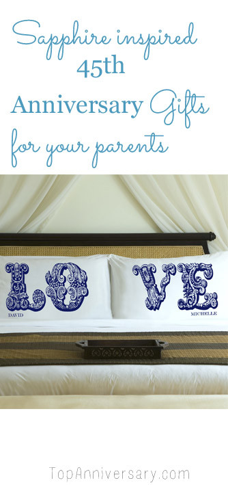 Best ideas about 45Th Wedding Anniversary Gift Ideas . Save or Pin 45th Wedding Anniversary Gift Guide Now.