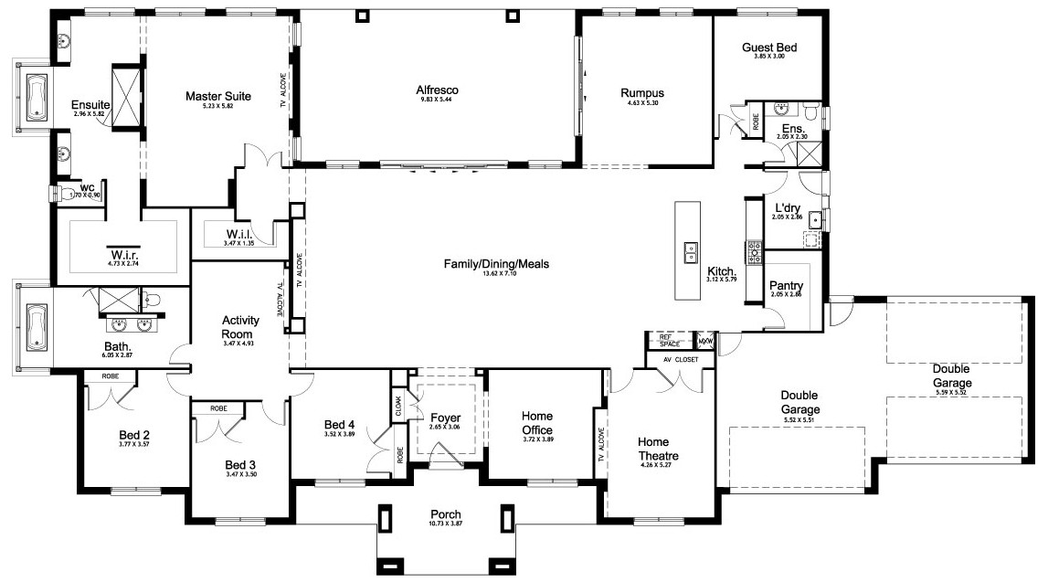 Best ideas about 5 Bedroom House Plans . Save or Pin Floor Plan Friday 5 bedroom acreage home Now.