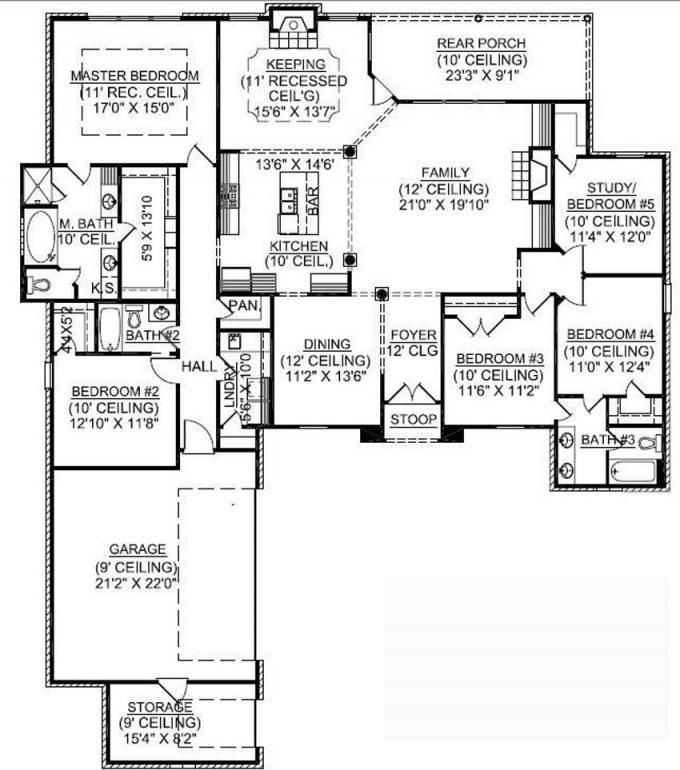 Best ideas about 5 Bedroom House Plans . Save or Pin 1 Story 5 Bedroom French Country House Plan Now.