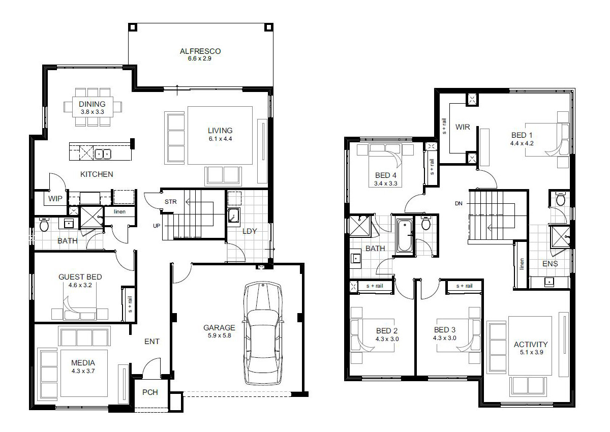 Best ideas about 5 Bedroom House Plans . Save or Pin 5 Bedroom House Designs Perth Double Storey Now.