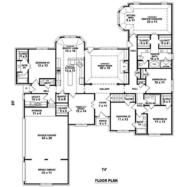 Best ideas about 5 Bedroom House Plans . Save or Pin Big 5 Bedroom House Plans Now.