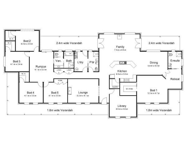 Best ideas about 5 Bedroom House Plans . Save or Pin 38 Perfect Ideas for 5 Bedroom Modern House Plans Now.