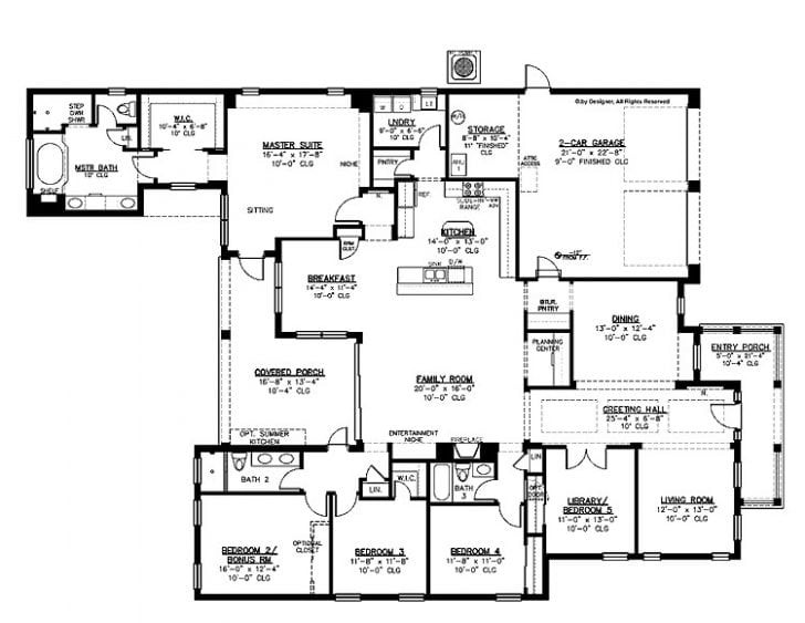 Best ideas about 5 Bedroom House Plans . Save or Pin Best Simple 5 Bedroom House Plans New Home Plans Design Now.