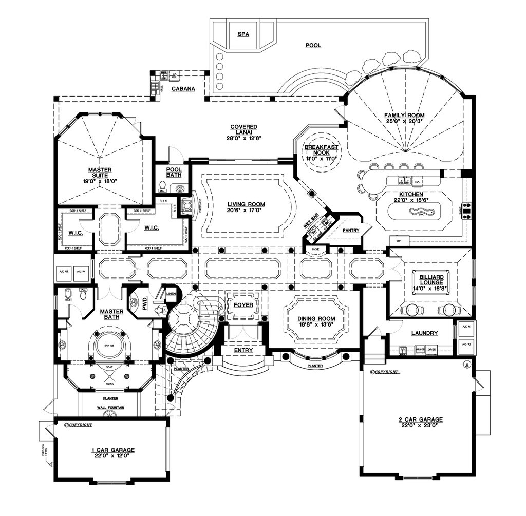 Best ideas about 5 Bedroom House Plans . Save or Pin Mediterranean Style House Plan 5 Beds 5 50 Baths 6045 Sq Now.