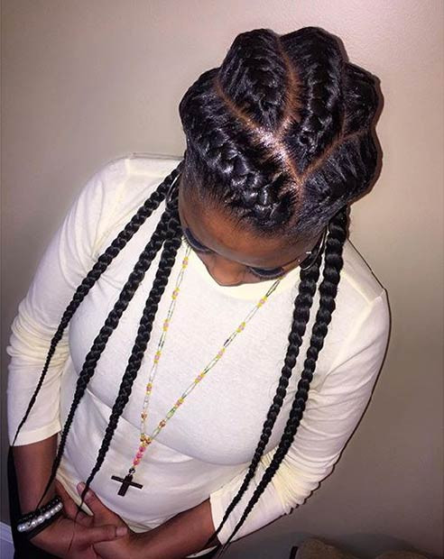 Best ideas about 5 Braids Hairstyle . Save or Pin 51 Goddess Braids Hairstyles for Black Women Now.