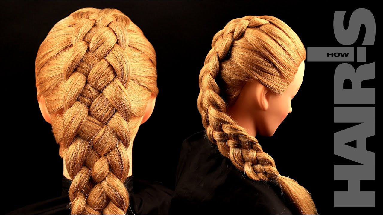 Best ideas about 5 Braids Hairstyle . Save or Pin How to do a five strand French braid hairstyle video Now.