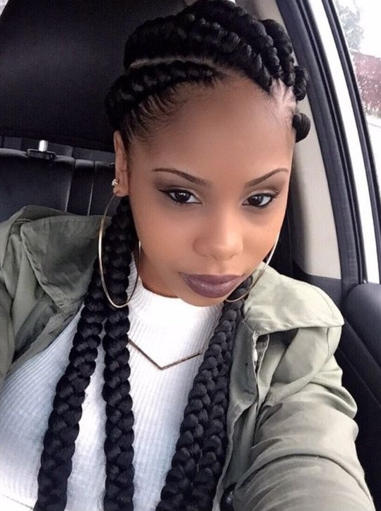 Best ideas about 5 Braids Hairstyle . Save or Pin ghana braids 5 539×723 Braided beauty Now.
