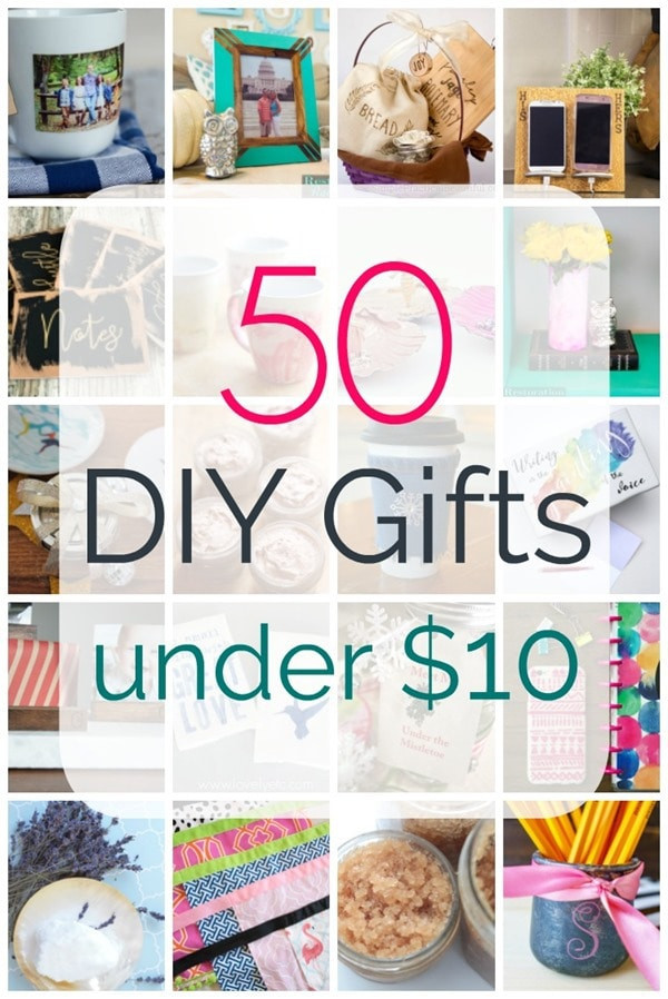 Best ideas about 50 Dollar Gift Ideas . Save or Pin 50 Awesome DIY Gifts Under Ten Dollars Lovely Etc Now.