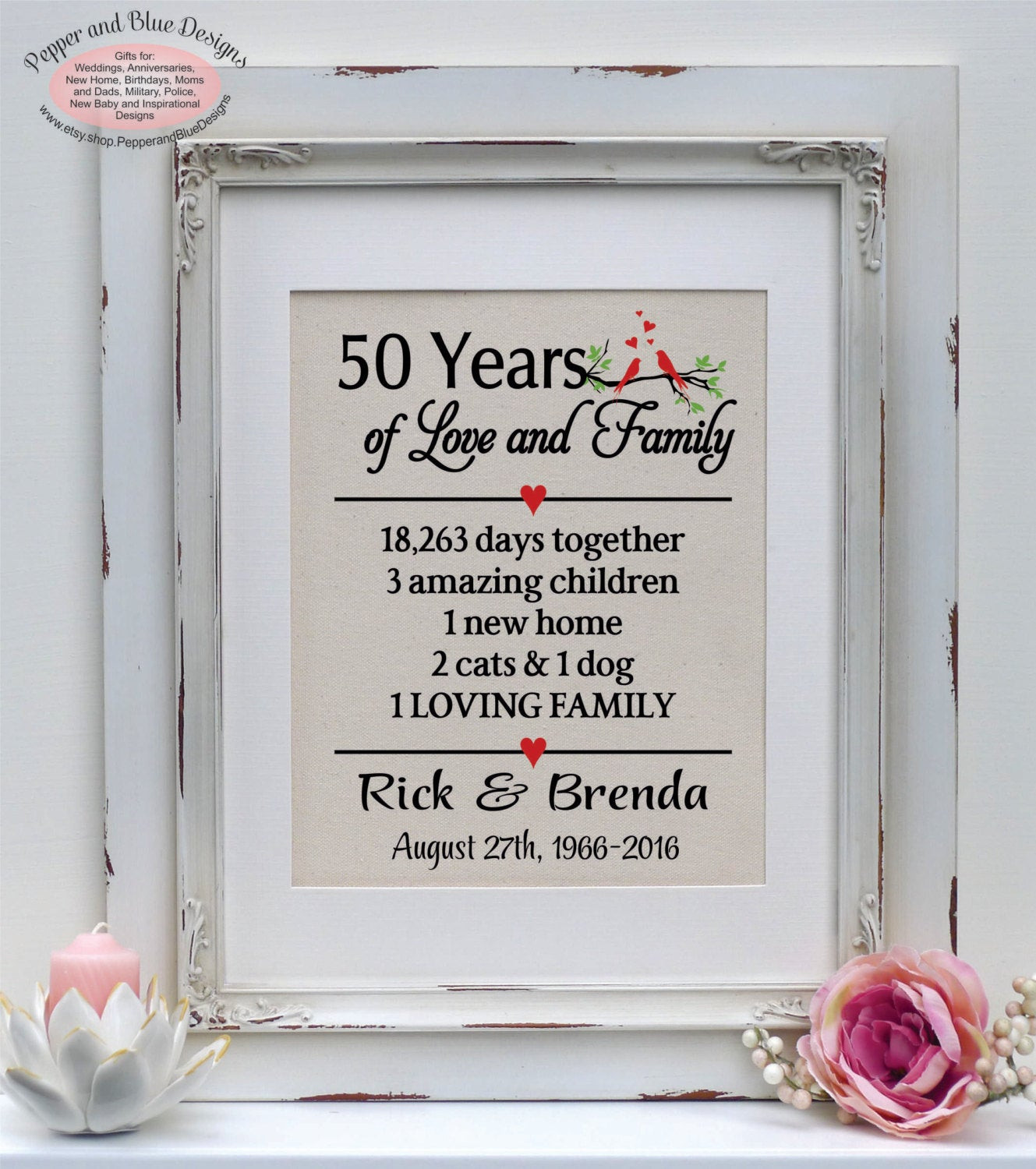 Best ideas about 50 Year Birthday Gifts . Save or Pin 50th anniversary t 50 years 50 year anniversary Now.
