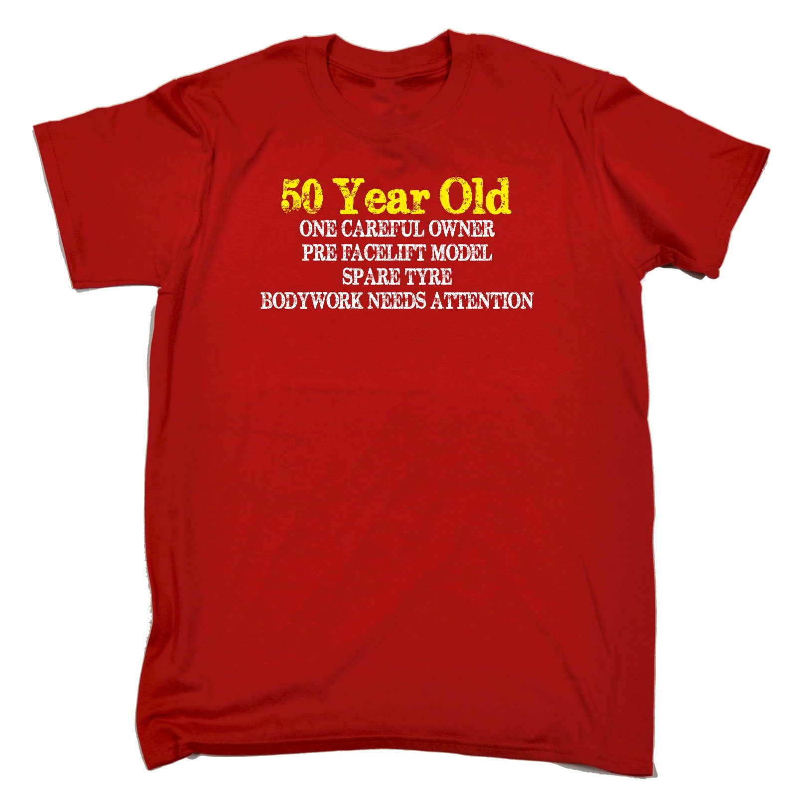 Best ideas about 50 Year Old Birthday Gifts . Save or Pin 50 YEAR OLD ONE CAREFUL OWNER T SHIRT tee joke funny Now.