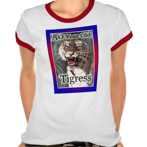 Best ideas about 50 Year Old Birthday Gifts . Save or Pin 50th Birthday Gifts 50 Year Old Tigress Tee Shirt Now.