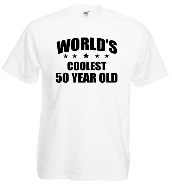 Best ideas about 50 Year Old Birthday Gifts . Save or Pin Worlds Coolest 50 Year Old T Shirt – Mens funny 50th Now.