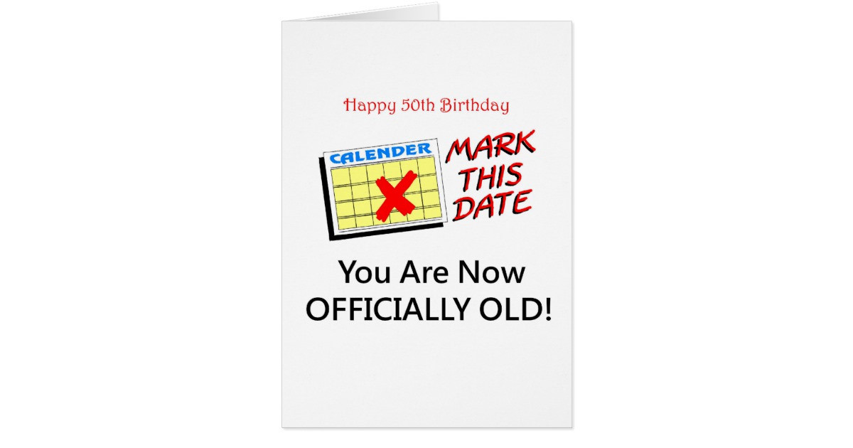 Best ideas about 50 Year Old Birthday Gifts . Save or Pin Cute 50 Year Old Birthday Gifts Card Now.
