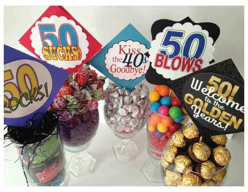 Best ideas about 50 Year Old Birthday Gifts . Save or Pin Very clever centerpiece ideas for milestone birthdays Use Now.