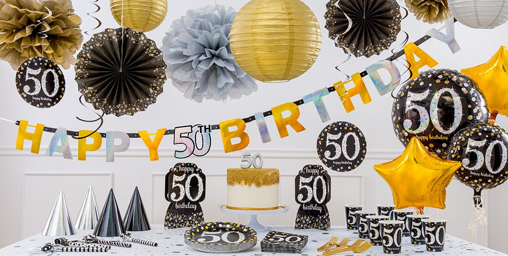 Best ideas about 50th Birthday Decorations For Him . Save or Pin Sparkling Celebration 50th Birthday Party Supplies Now.