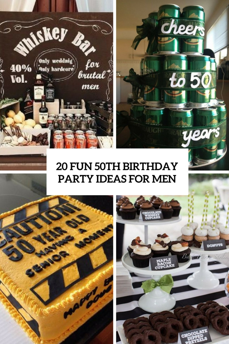 Best ideas about 50th Birthday Decorations For Him . Save or Pin 20 Fun 50th Birthday Party Ideas For Men Shelterness Now.