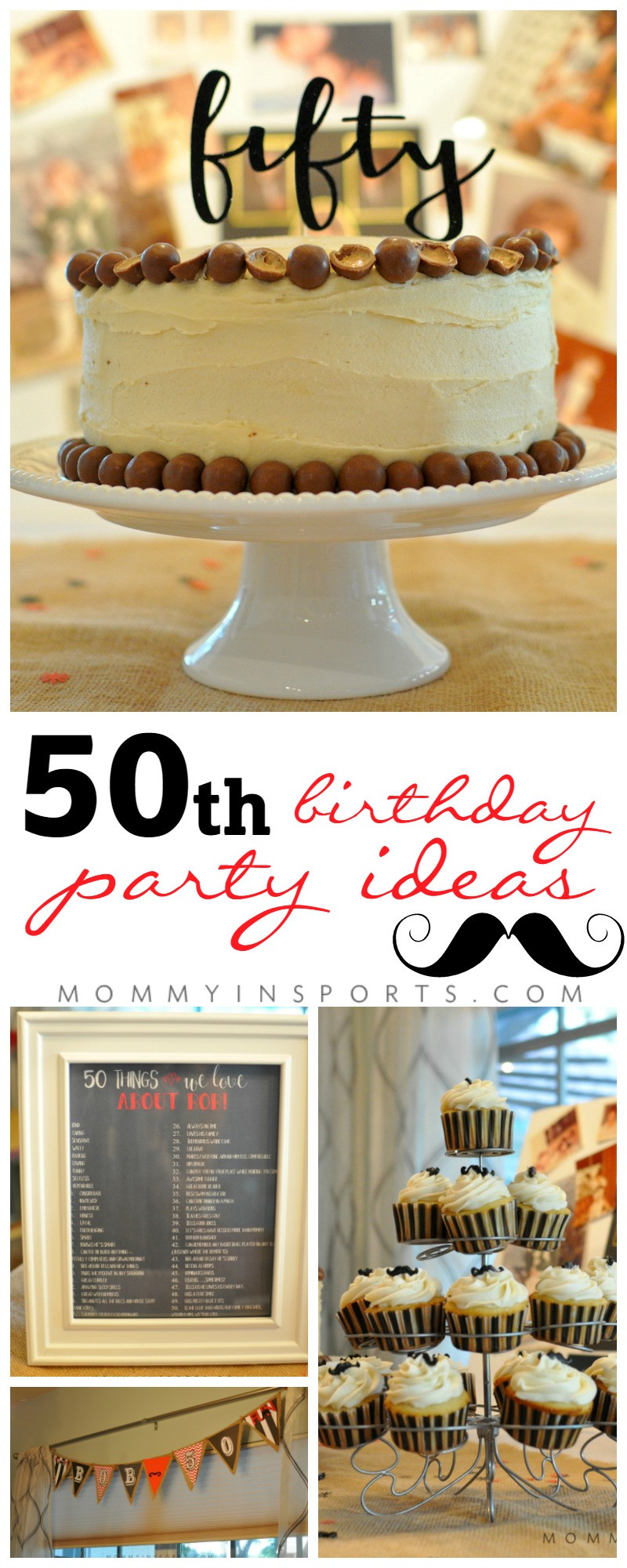 Best ideas about 50th Birthday Decorations For Him . Save or Pin 50th Birthday Party Ideas Kristen Hewitt Now.