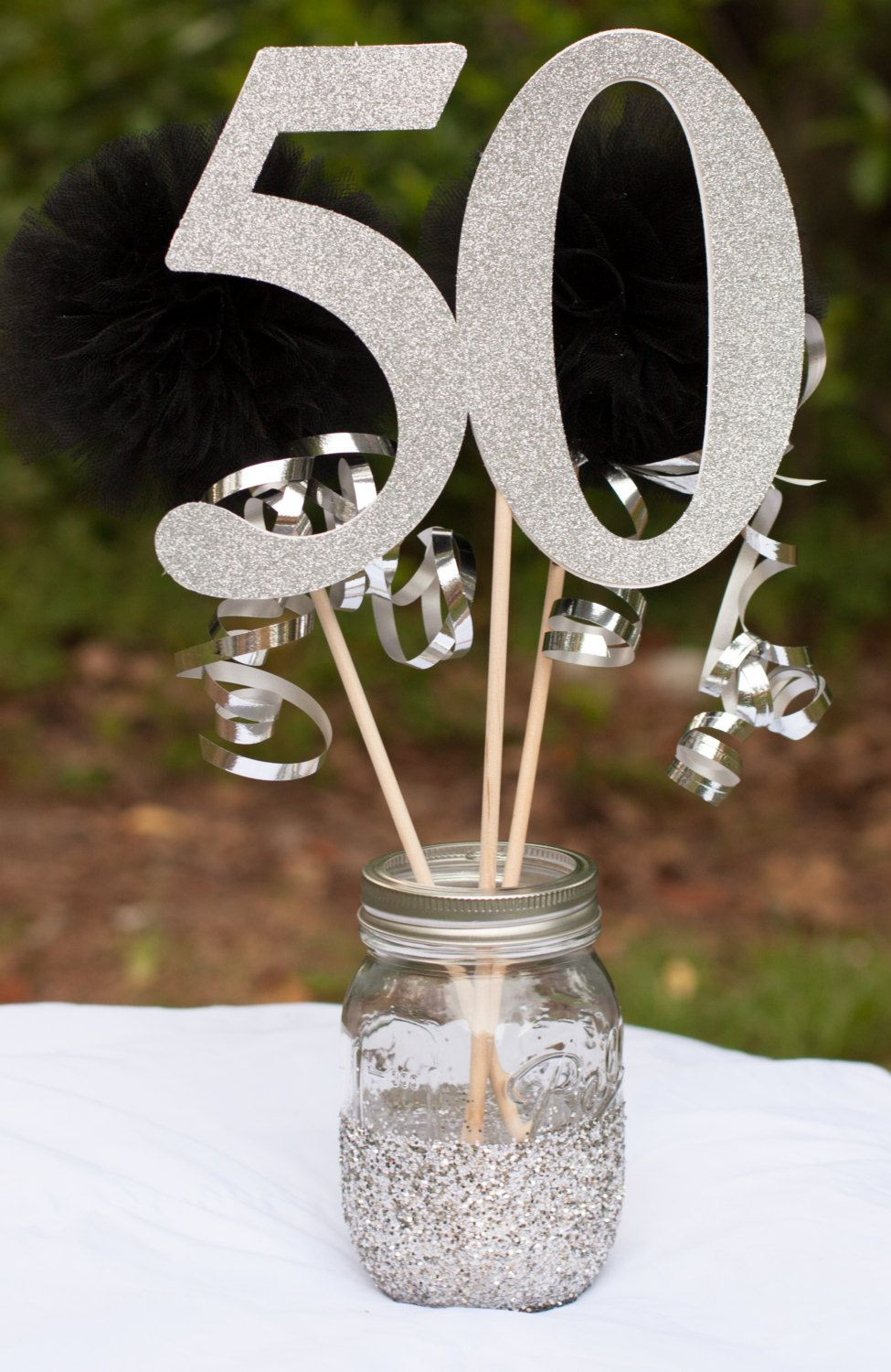 Best ideas about 50th Birthday Table Decorations . Save or Pin Anniversary Party Decorations 40th 50th 60th Birthday Now.