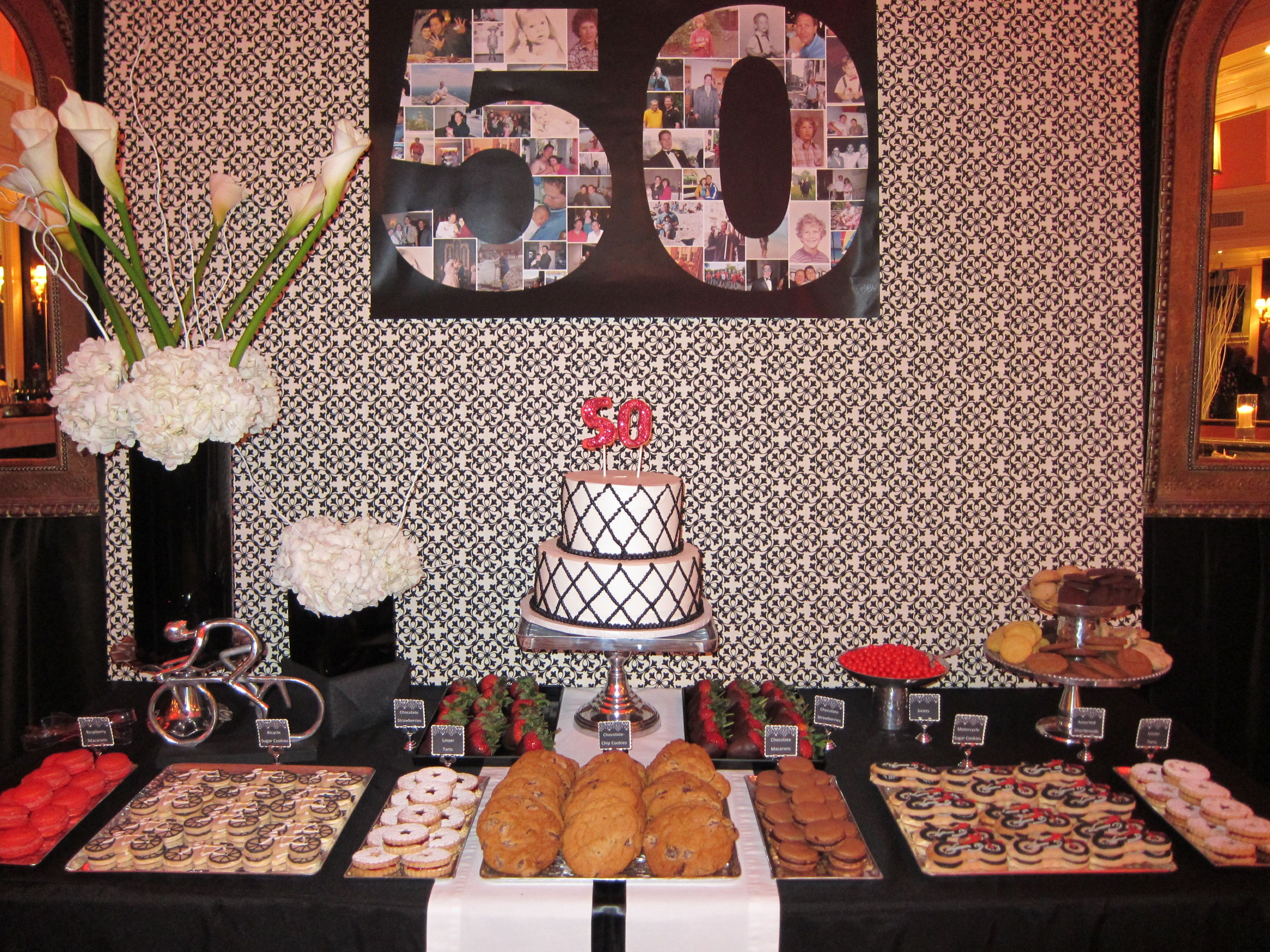 Best ideas about 50th Birthday Table Decorations . Save or Pin 50th Birthday Dessert Table Now.