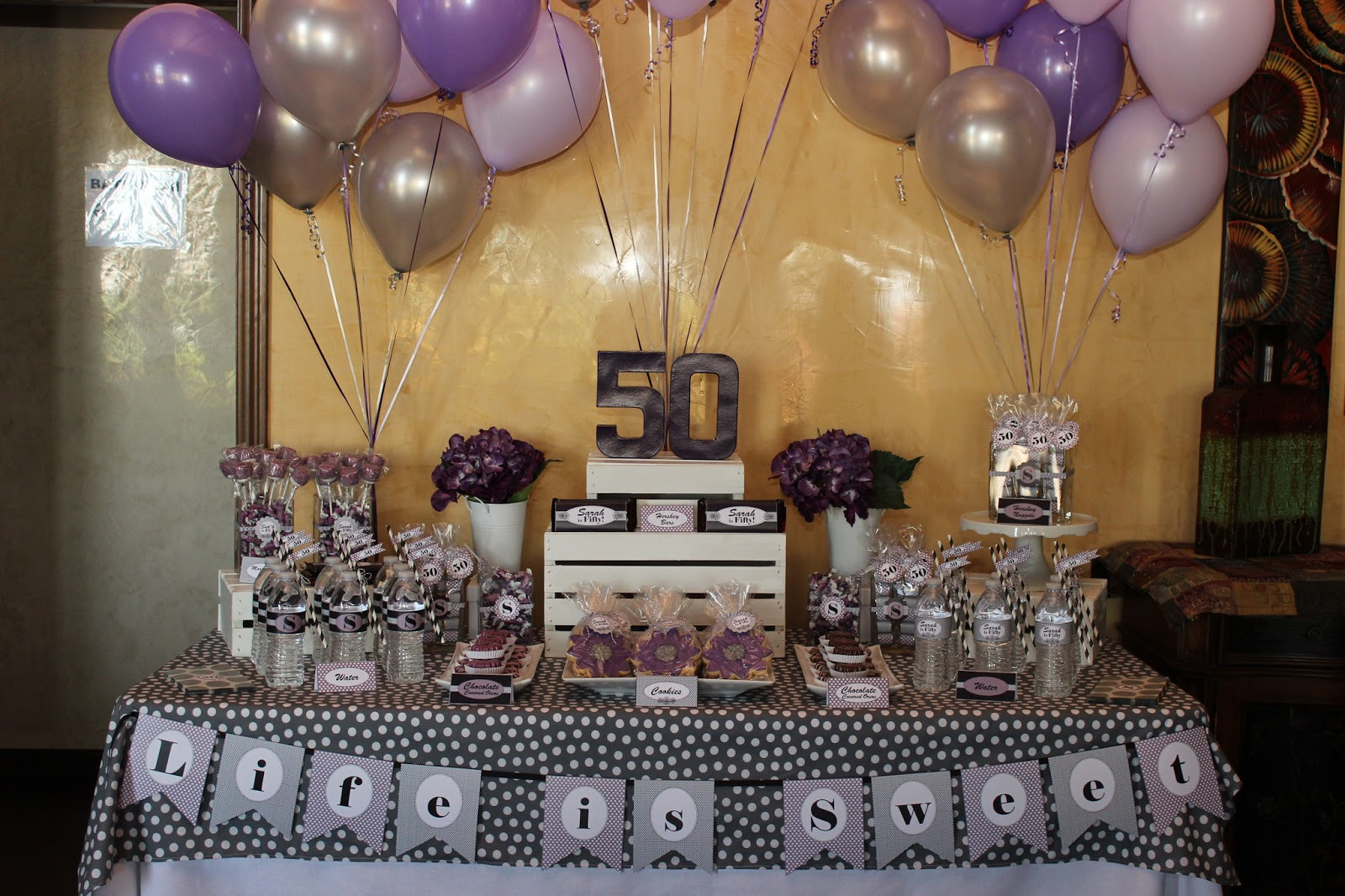 Best ideas about 50th Birthday Table Decorations . Save or Pin The Sugar Bee Bungalow Party Bee Sarah s 50th Birthday Now.