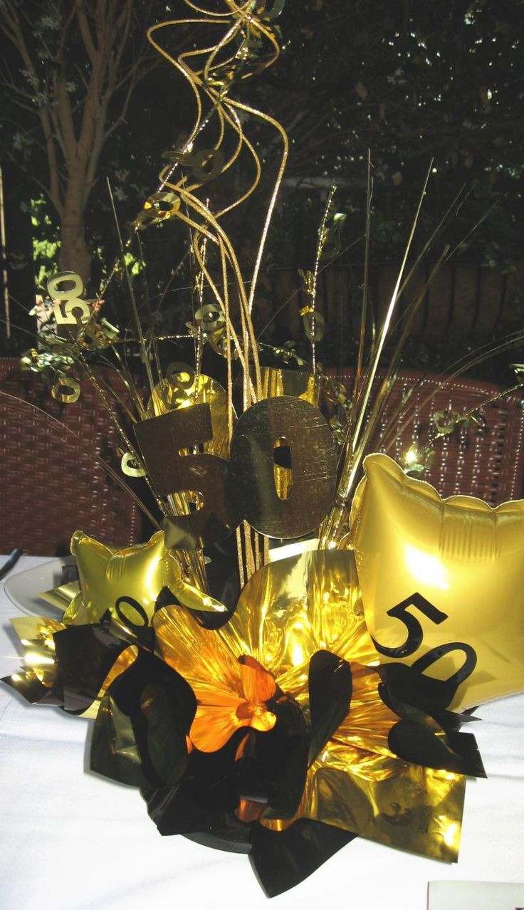 Best ideas about 50th Birthday Table Decorations . Save or Pin 17 Best ideas about 50th Birthday Centerpieces on Now.