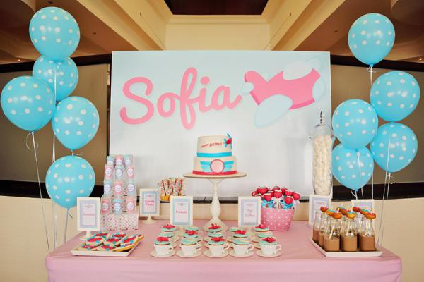 Best ideas about 5th Birthday Party Ideas Girl . Save or Pin Kara s Party Ideas Girly Airline Airplane Plane Themed 5th Now.