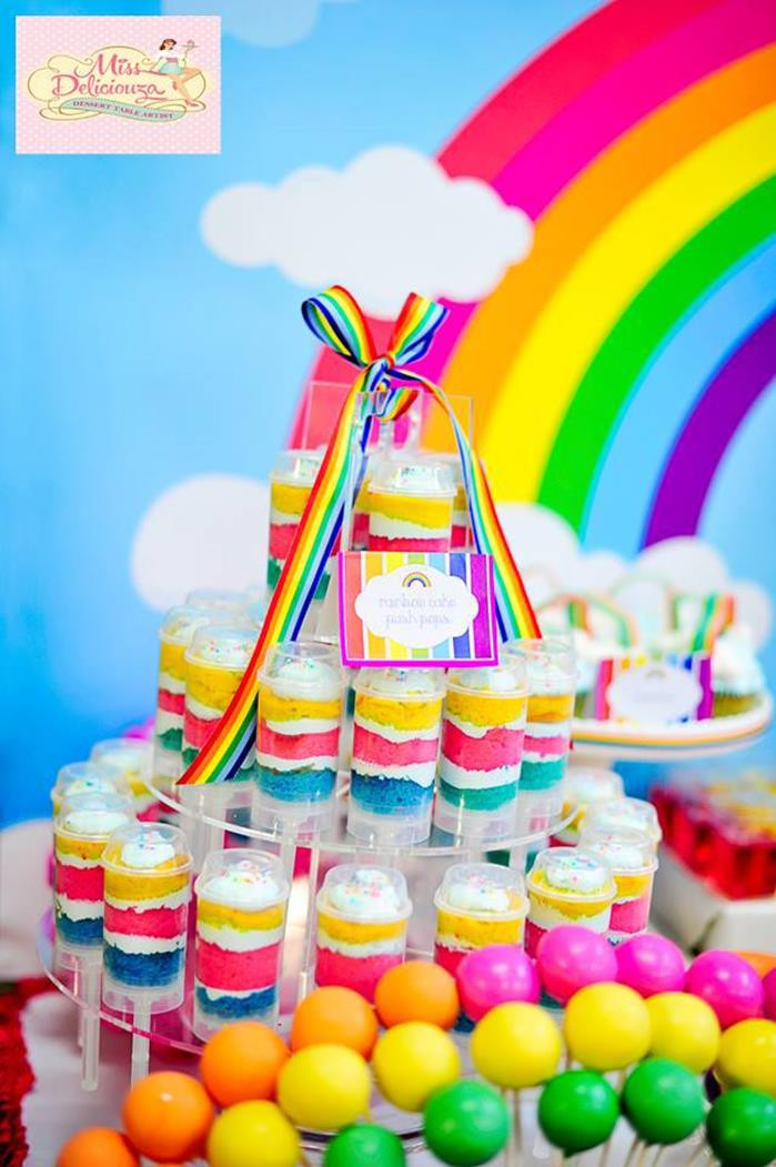 Best ideas about 5th Birthday Party Ideas Girl . Save or Pin Kara s Party Ideas Girly Rainbow Birthday Party Planning Now.