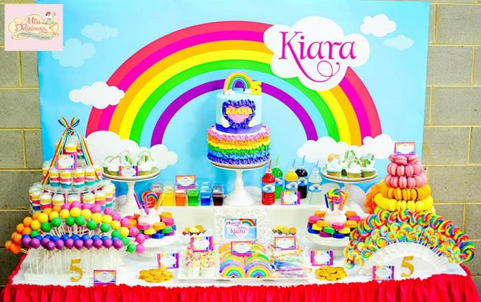 Best ideas about 5th Birthday Party Ideas Girl . Save or Pin Kara s Party Ideas Girly Rainbow 5th Birthday Party with Now.
