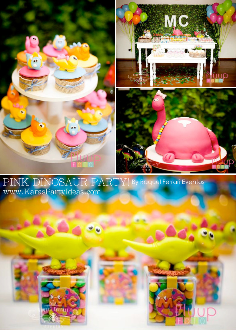 Best ideas about 5th Birthday Party Ideas Girl . Save or Pin Kara s Party Ideas Pink Dinosaur Girl 5th Birthday Party Now.