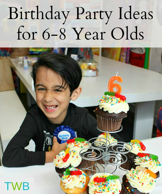 Best ideas about 6 Year Old Birthday Gift Ideas . Save or Pin 5 Birthday Party Ideas for Your 6 8 Year Olds The Write Now.