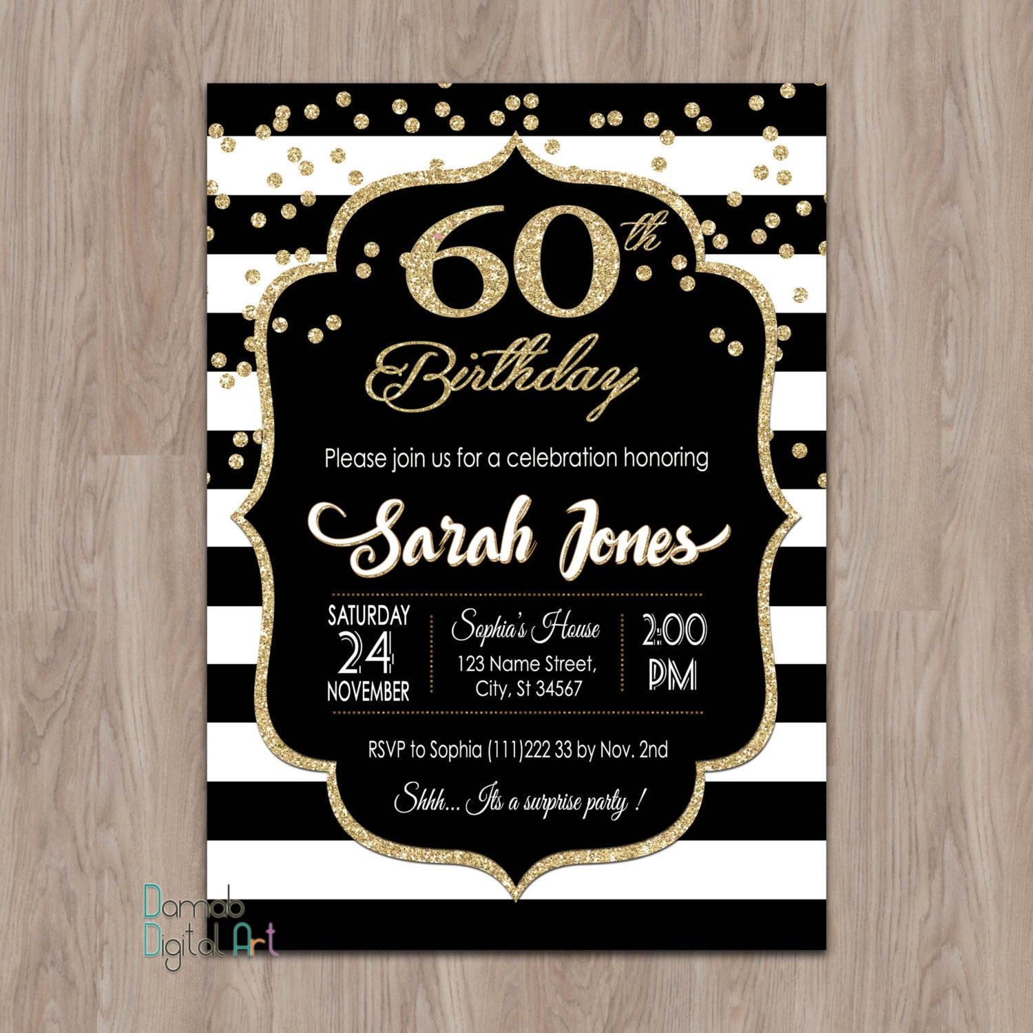 Best ideas about 60 Birthday Invitations . Save or Pin 60th birthday invitations 60th birthday invitations for Now.
