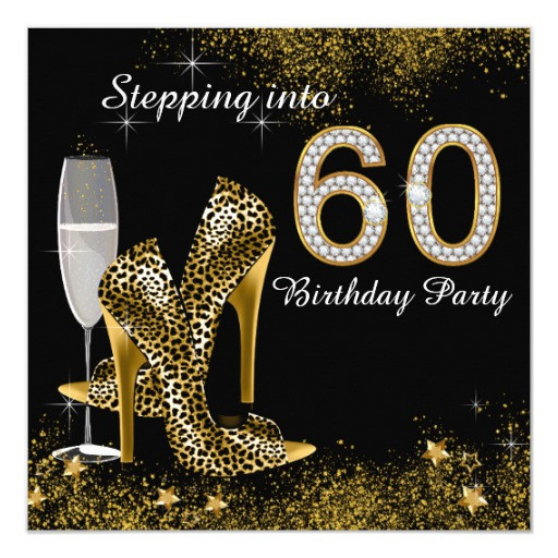 Best ideas about 60 Birthday Invitations . Save or Pin Stepping Into 60 Birthday Party Invitation Now.
