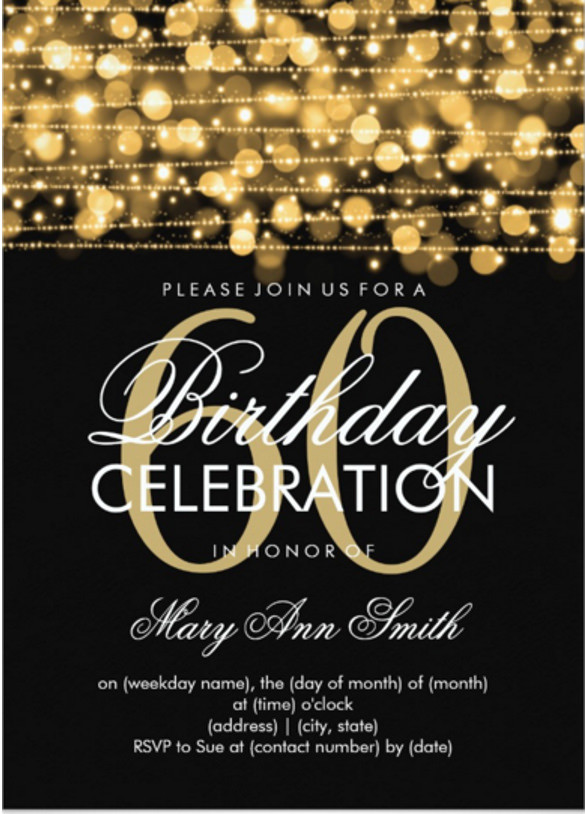 Best ideas about 60 Birthday Invitations . Save or Pin 49 Birthday Invitation Templates PSD AI Word Now.
