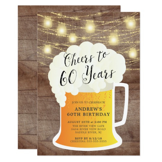 Best ideas about 60 Birthday Invitations . Save or Pin 60 Birthday Invitations Now.