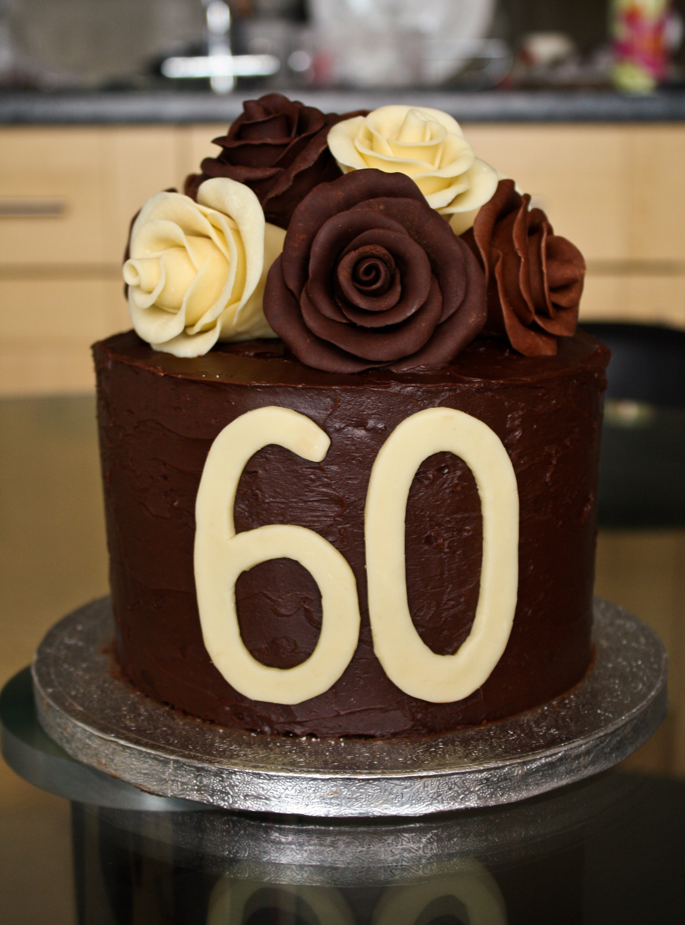 Best ideas about 60th Birthday Cake . Save or Pin Chocolate Roses Birthday Cake Now.