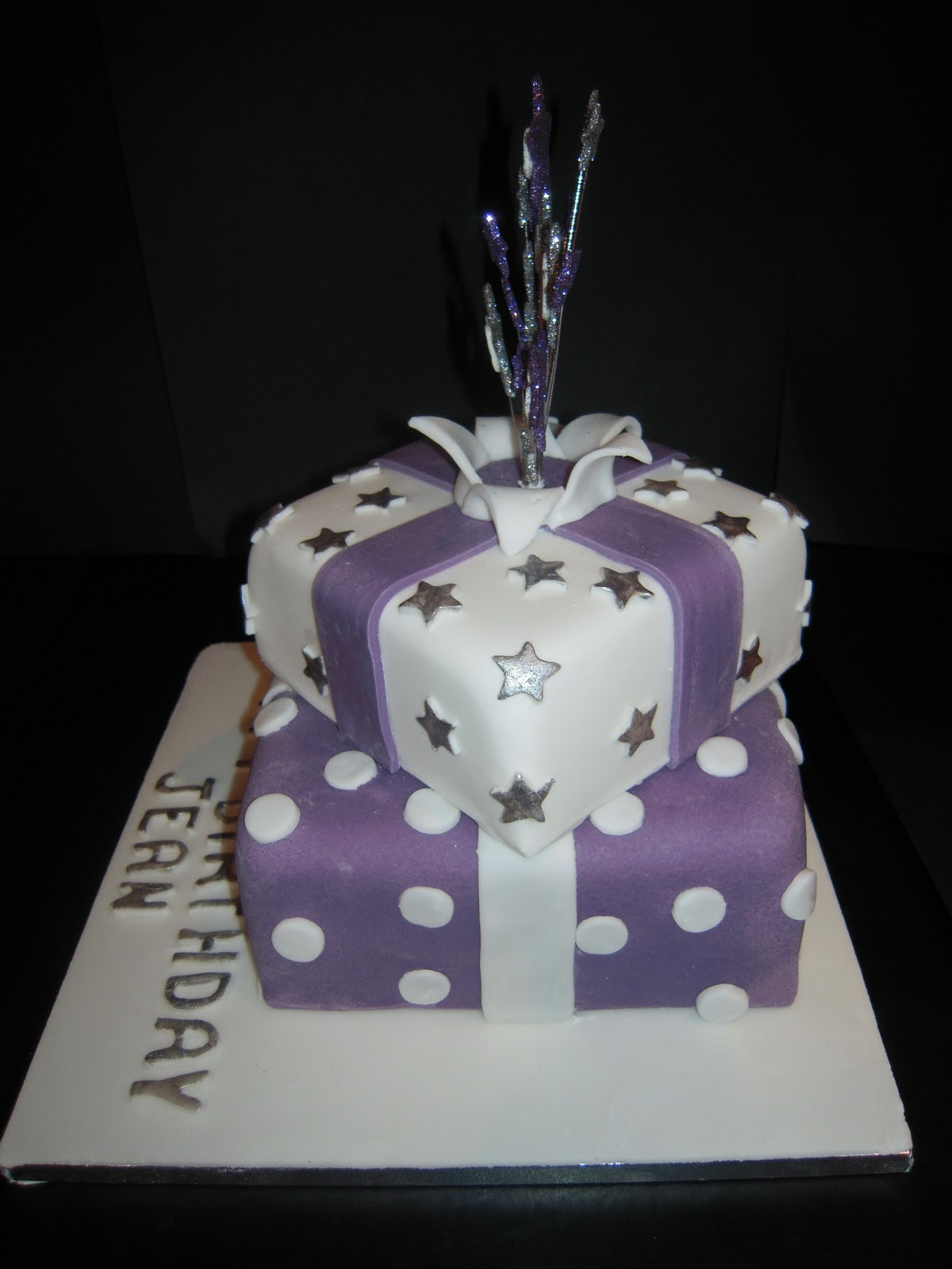 Best ideas about 60th Birthday Cake . Save or Pin Eileen Atkinson s Celebration Cakes 60th Stacked presents Now.