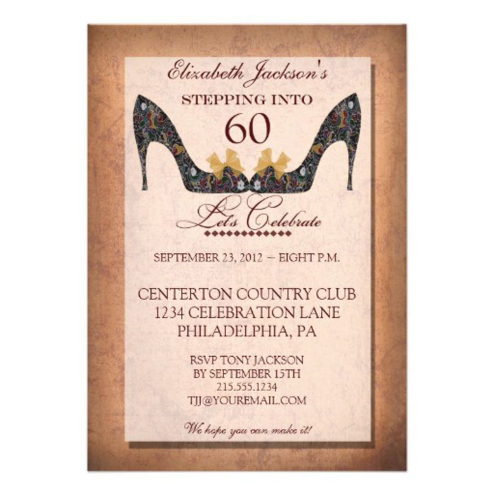 Best ideas about 60th Birthday Invitations . Save or Pin 20 Ideas 60th birthday party invitations Card Templates Now.