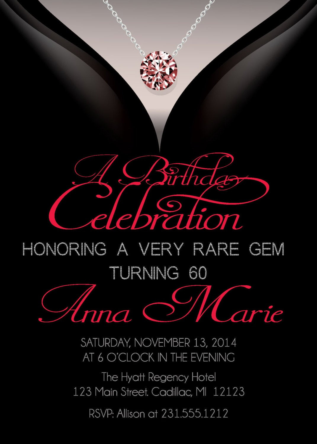Best ideas about 60th Birthday Invitations . Save or Pin 60th Birthday Invitations Adult Birthday Invitation Now.