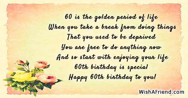 Best ideas about 60th Birthday Quotes . Save or Pin 60th Birthday Quotes Now.