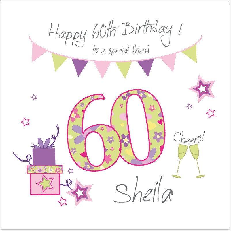 Best ideas about 60th Birthday Wishes For Friend . Save or Pin Personalised 60th birthday card FRIEND SISTER AUNTIE Any Now.