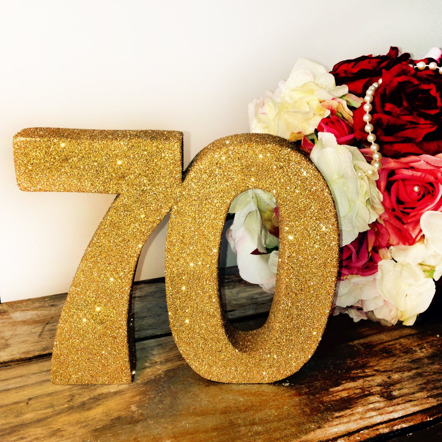 Best ideas about 70 Birthday Decorations . Save or Pin 70th birthday decoration glitter number Birthday party Now.