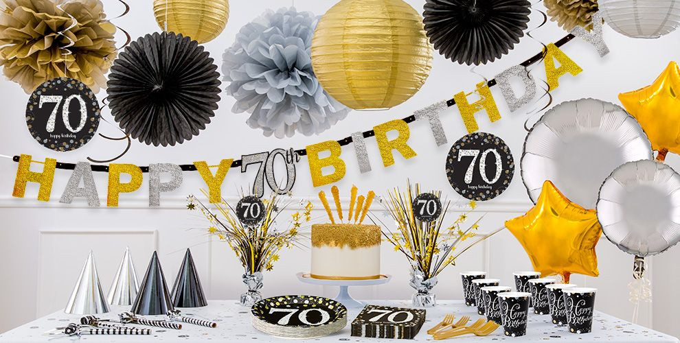 Best ideas about 70 Birthday Decorations . Save or Pin Sparkling Celebration 70th Birthday Party Supplies Party Now.