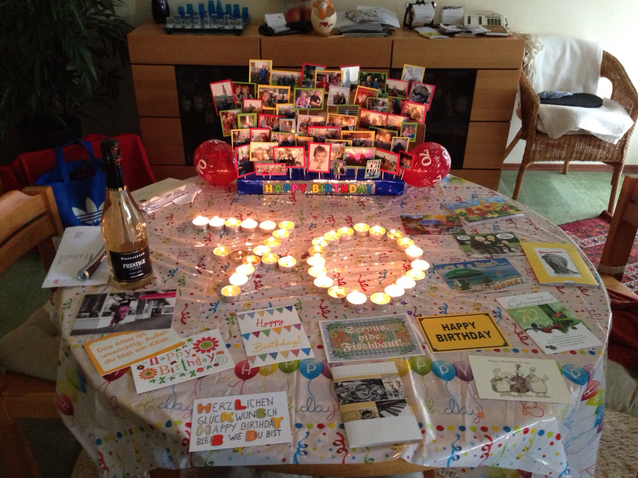 Best ideas about 70 Birthday Decorations . Save or Pin 70th birthday decoration Dad s 70th Pinterest Now.