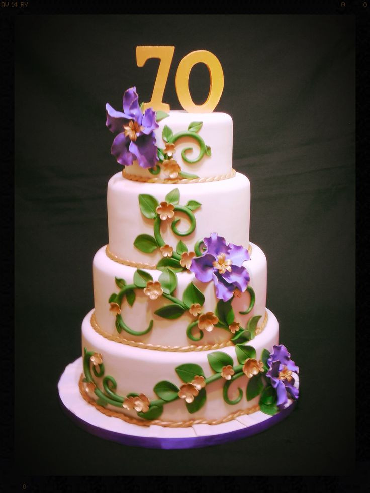 Best ideas about 70th Birthday Cake . Save or Pin 118 best images about Cakes 70th Birthday on Pinterest Now.