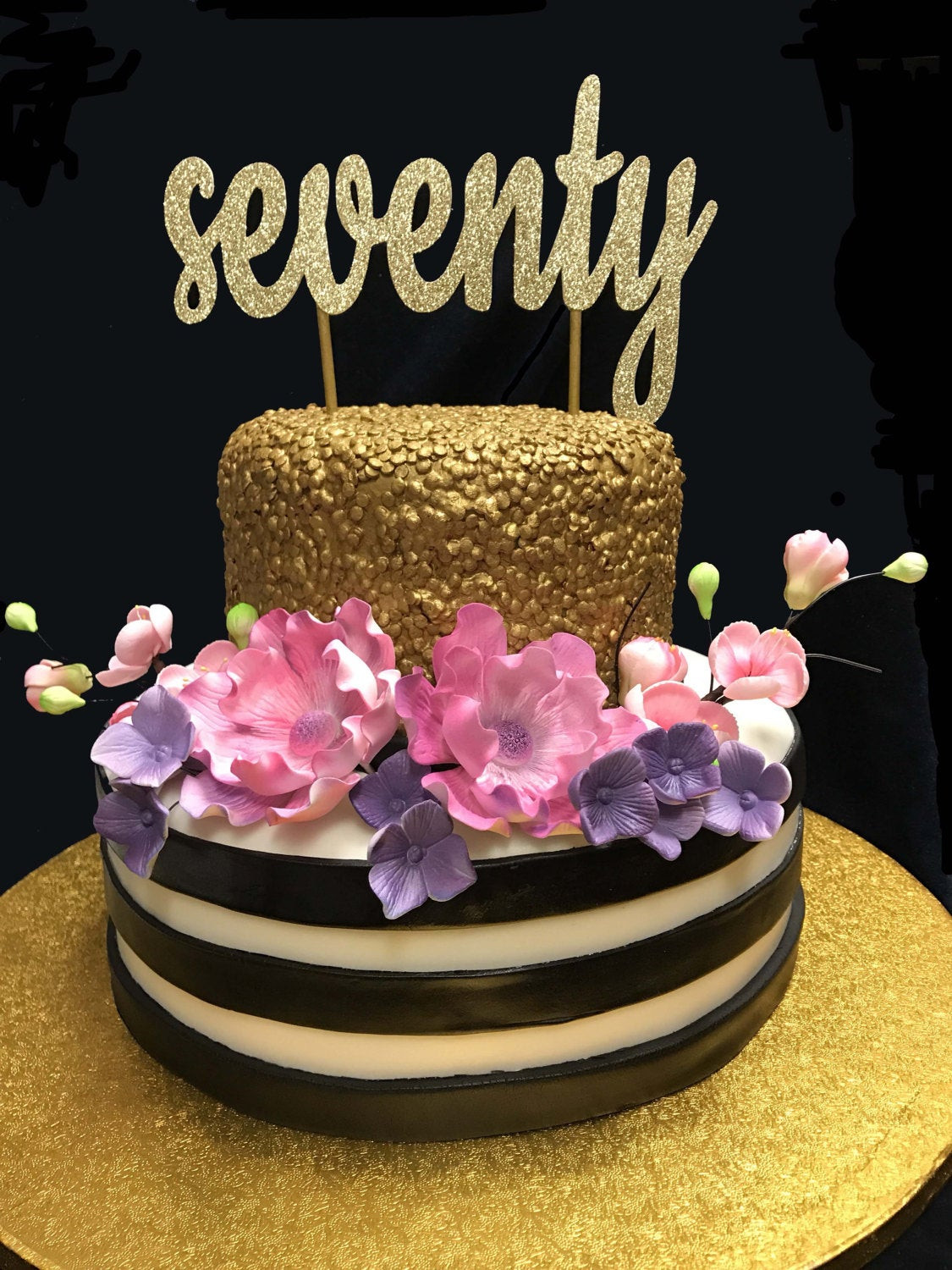 Best ideas about 70th Birthday Cake . Save or Pin Seventy Birthday Cake Topper 70th Cake Topper 70 Birthday Now.