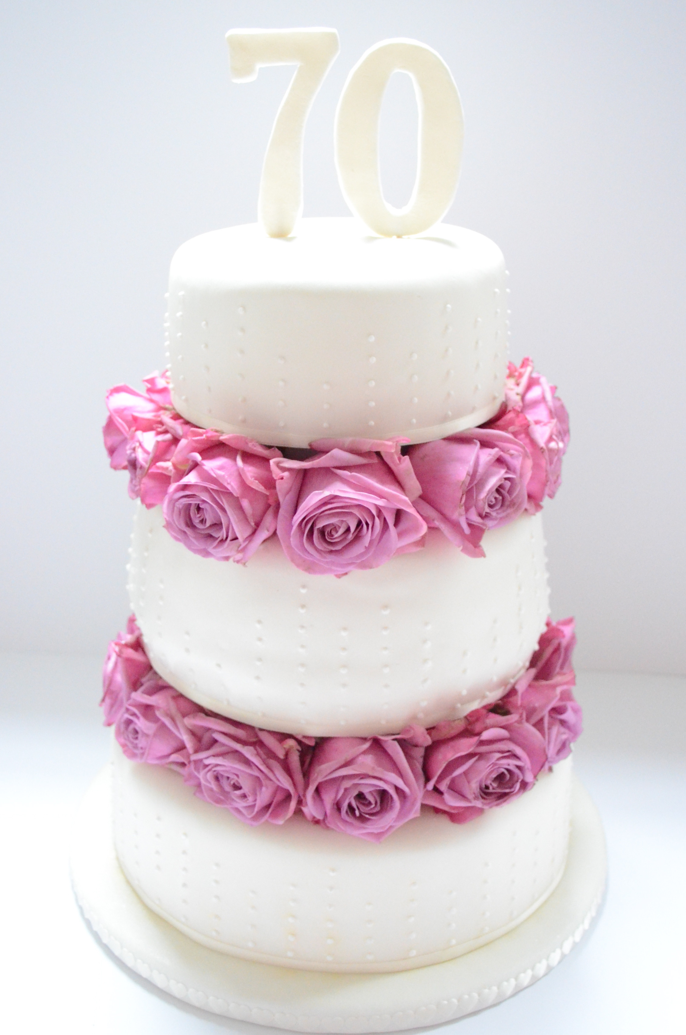 Best ideas about 70th Birthday Cake . Save or Pin Une Grande Madame – A three tiered 70th birthday fondant Now.